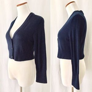 Modcloth Sweaters - Navy Cropped Cardigan from Fervor/ ModCloth! 💙